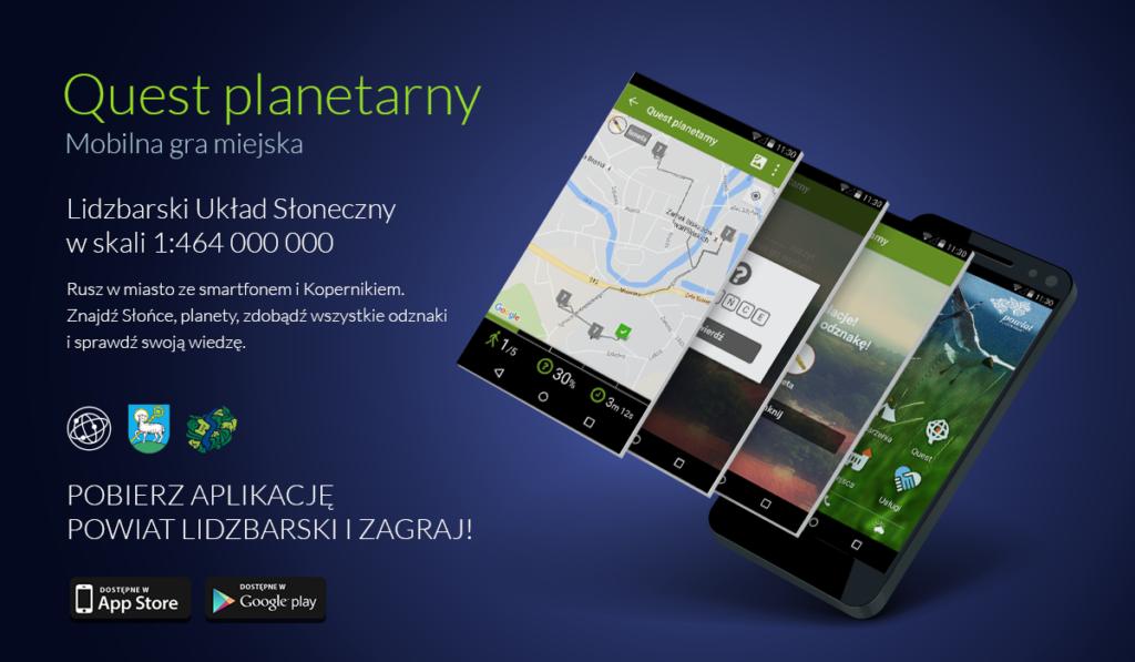 Informacje o mobilnej grze miejskiej - quest planetarny