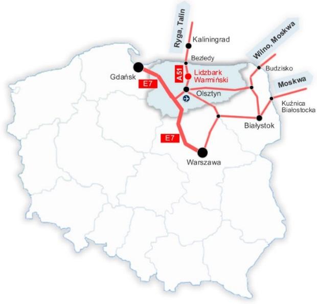 Lokalizacja Lidzbarka Warmińskiego na mapie Polski